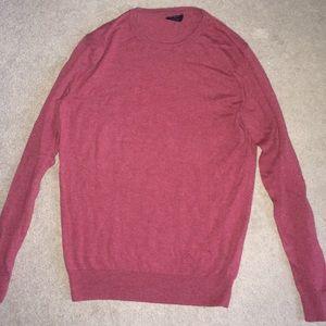 Red J Crew crewneck sweater